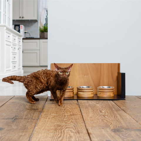 VINKEL by PETTEL | Подставка с тремя мисками для кошки