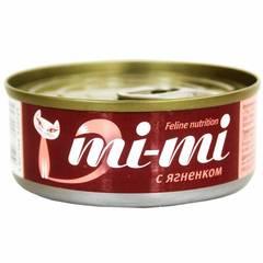 Mi-mi влажный корм для кошек и котят с ягненком 0,80гр