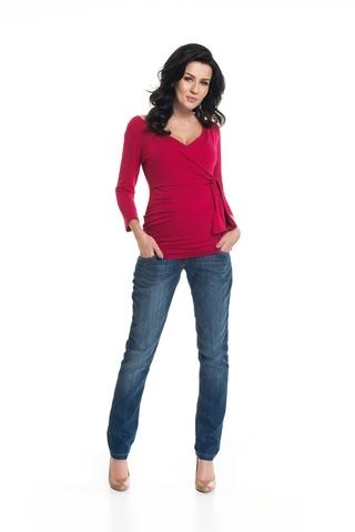 Блузка для беременных и кормящих 08866 красный