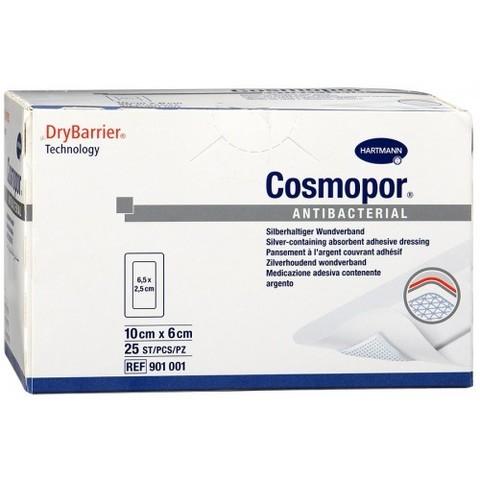 Космопор Антибактериал - COSMOPOR Antibacterial, Самоклеящаяся серебросодержащая повязка, 10 х 6 см