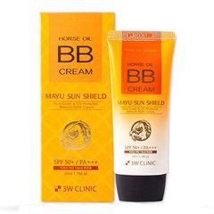 3W Clinic Horse Oil BB Cream SPF 50 PA+++ - BB-крем на основе лошадиного масла