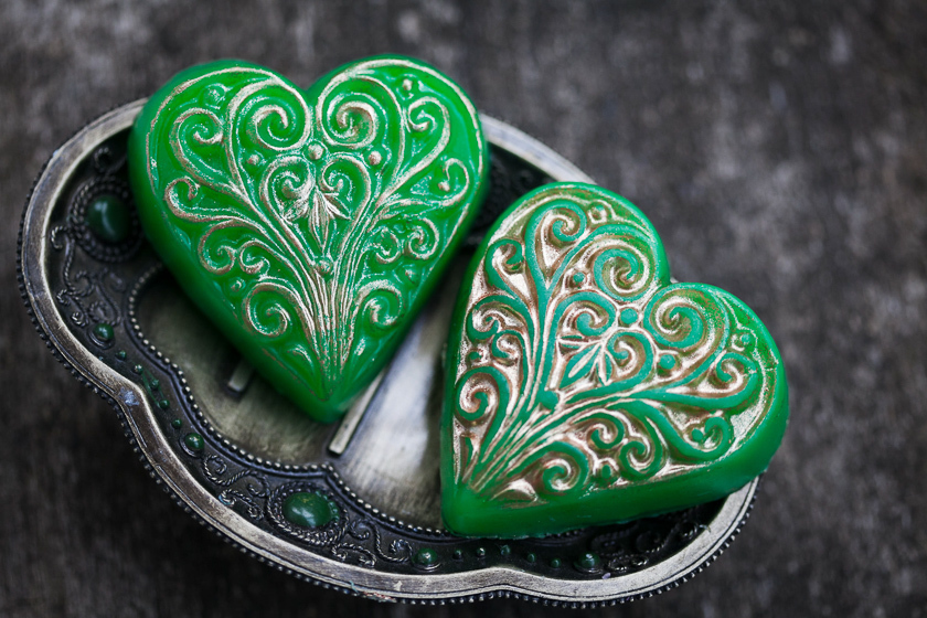 Мыло Сердце с орнаментом. Форма пластиковая