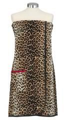 Килт-саронг для сауны женский шенилловый 80х180 Feiler Safari 10 schwarz №3