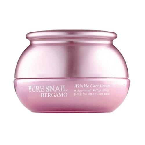 Крем для лица антивозрастной с муцином улитки Bergamo Pure Snail Wrinkle Care Cream 50мл