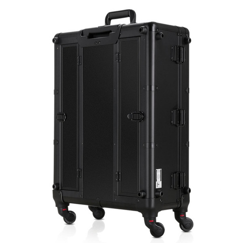 Бьюти кейс визажиста на колесиках (мобильная студия) LC004 Black