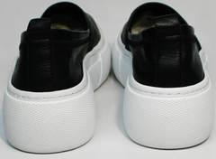 Слипоны лоферы женские Evromoda 457.024e White Black.