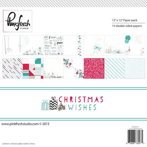 """Набор двусторонней бумаги 30*30 """"Christmas Wishes"""""""