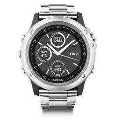 Спортивные смарт часы Garmin Fenix 3 cеребристые HR с титановым браслетом (со встроенным пульсометром)  010-01338-79