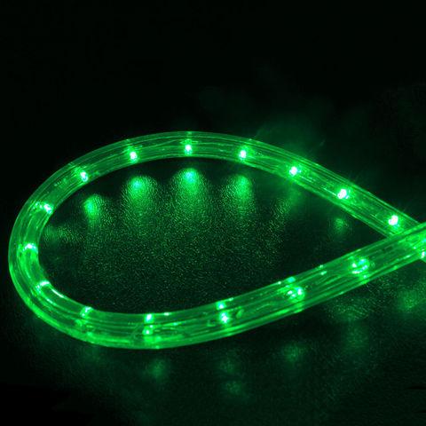 Шнур дюралайт 10 метров готового шланга с коннектором вилкой зеленый цвет