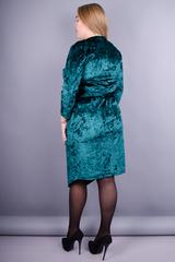 Рубин. Нарядное платье плюс сайз. Изумруд.