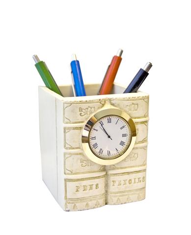 Карандашница с часами №4