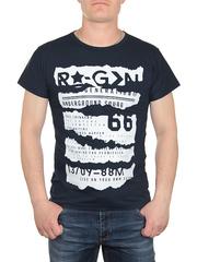 0719-5 футболка мужская, темно-синяя