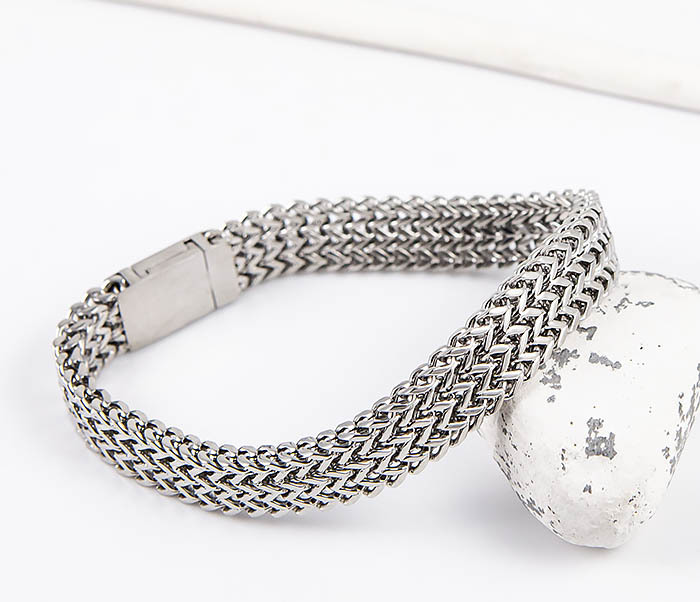 BM555 Широкий мужской браслет из стали