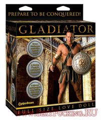 Кукла с вибрацией мужчина Гладиатор с языком и фаллосом