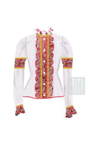 Фото Казачья барыня жакет женский рисунок Выбирайте лучший казачий костюм в Мастерской Ангел. Мы специализируемся на народной, в том числе, казачьей одежде!