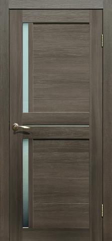 Дверь La Stella 202, стекло матовое, цвет ясень грей, остекленная