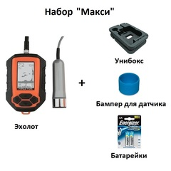 Набор Макси - Эхолот Практик 6М, унибокс, бампер, батарейки