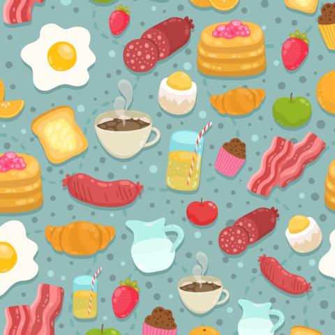 Супер плотный завтрак.