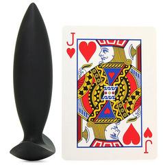 Силиконовая анальная пробка для ношения Renegade - Spades - Small (2,5 х 8,5 см.)