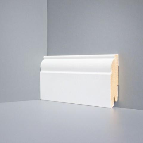Белый ламинированный плинтус DEARTIO U104-80