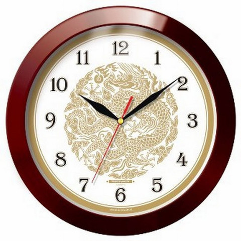 Часы настенные Troyka 11131190 круг плав.ход пластик