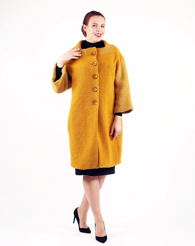 Пальто Cappotto-coat охра