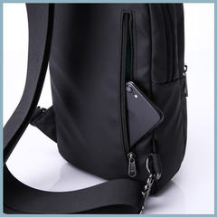 Рюкзак однолямочный повседневный КАКА 99025 чёрный