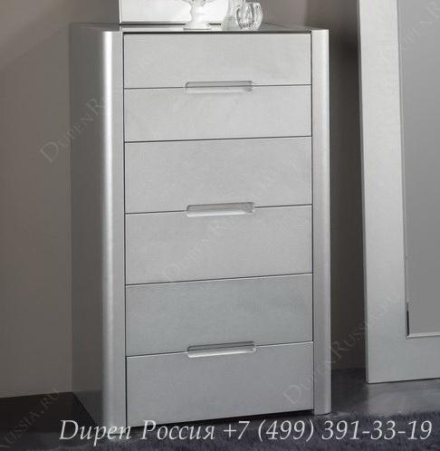 Комод вертикальный DUPEN S-110 Серебро