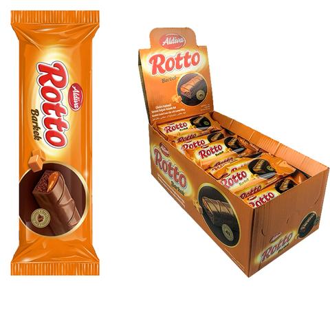 ROTTO кекс с какао и карамелью, покрытый молочным шоколадом 1кор*6бл*24шт 25гр.