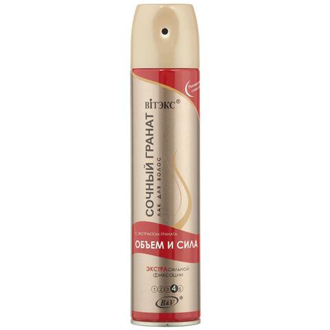 Витэкс Аэрозольные лаки для волос Лак для волос Объем и сила с экстрактом граната экстрасильной фиксации 300 мл