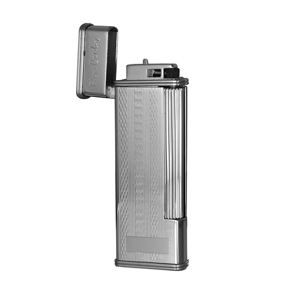 Зажигалка Pierre Cardin кремниевая газовая, цвет серебро с насечкой, 2,4х1,1х7см