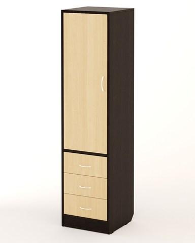 Шкаф-пенал П-01 венге / дуб беленый