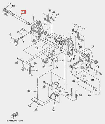Болт кронштейна для лодочного мотора F20 Sea-PRO (19-11)