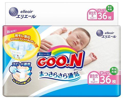 GOON. Подгузники для новорожденных NB 0-5 кг, 1уп./36 шт.