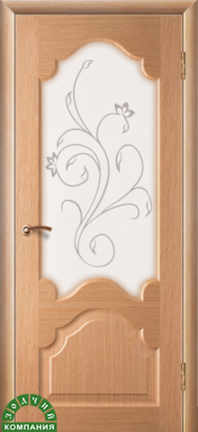 Дверь Зодчий Верона, цвет дуб, остекленная