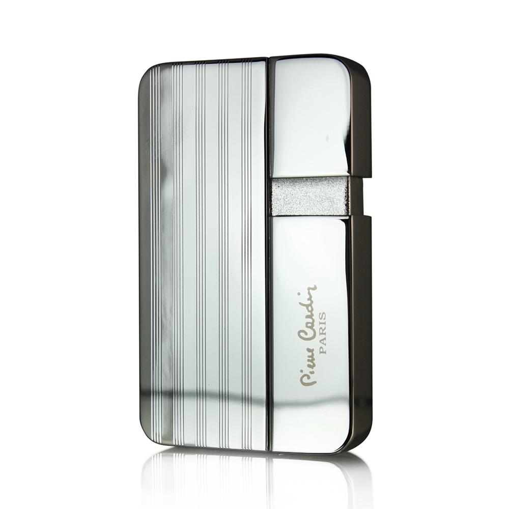 Зажигалка Pierre Cardin кремниевая газовая пьезо, цвет хром с гравировкой, 3,8х0,8х6,3см
