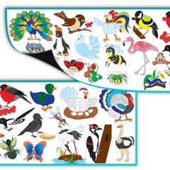 Магнитный набор: Насекомые и птицы