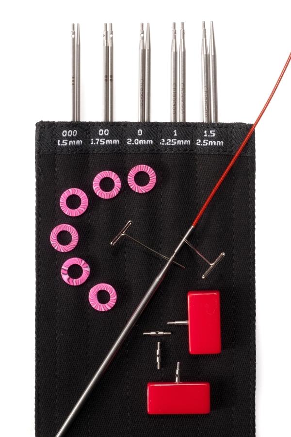 Набор металлических укороченных спиц ChiaoGoo, 10 см, Mini Set