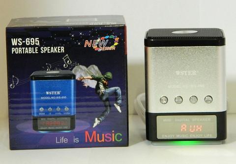 Портативная колонка WS-695 MP3/FM/MicroSD/USB