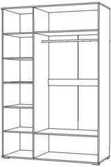 Шкаф 3Д Вегас