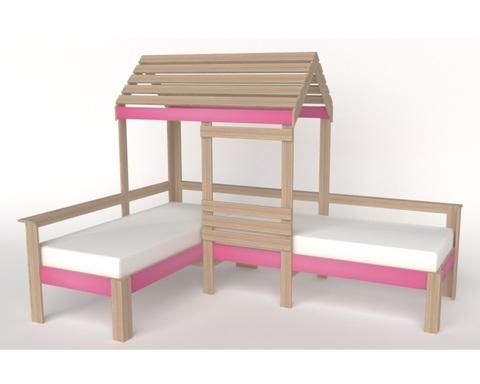 Кровать АВАРА-4 со стенкой и крышей