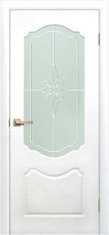 Дверь Сибирь Профиль Симфония ДО, стекло матовое, цвет белый, остекленная