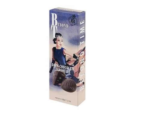 Горький шоколад Beyond Time ракушки, 60 г