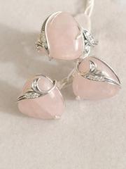 Вуаль (кольцо + серьги из серебра)