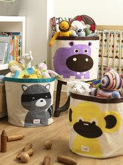 Купить корзину для игрушек 3 Sprouts Жёлтая обезьянка