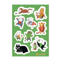 Набор стикеров Comics Cats