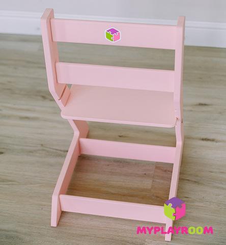 Растущий стульчик, розовый 8