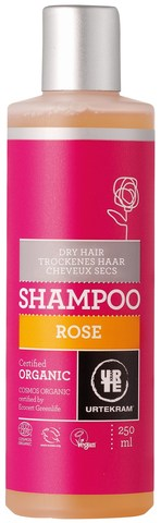 Шампунь для сухих волос Роза, 250 мл. URTEKRAM