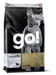 Корм для щенков и взрослых собак, GO! SENSITIVITY + SHINE LID Duck Dog Recipe, Grain Free, Potato Free, беззерновой, с цельной уткой для чувствительного пищеварения