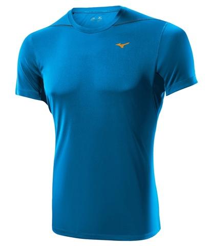 Беговая футболка Mizuno DryLite Core Tee мужская синяя